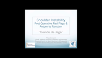 Shoulder instability - post op...