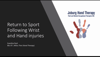 Return to sport in wrist and h...
