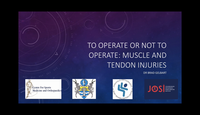 Whether to operate on tendon a...