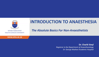 Introduction to anaesthesiolog...