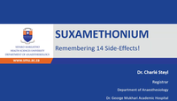 Side effects of suxamethonium...