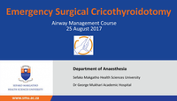Surgical cricothyroidotomy...