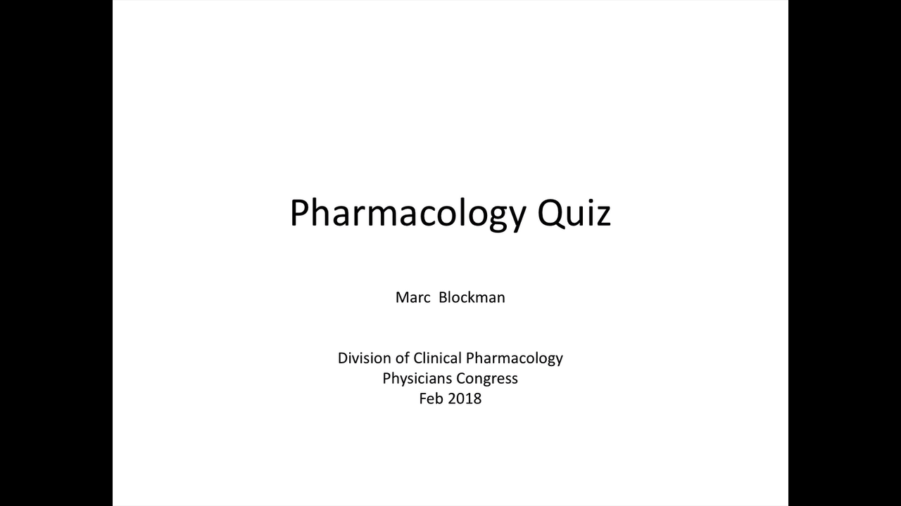 Pharmacology quiz...
