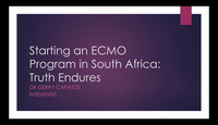Starting an ECMO program in SA...