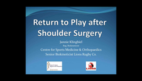 Return to play after shoulder ...
