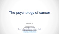 The psychology of the cancer patient...